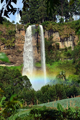 The upper Sipi fall (supersky77) Tags: sipi waterfall fall cascata uganda africa elgon mountelgon rainbow halo arcobaleno alone