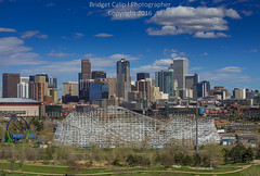 Wooden Rollercoaster with Downtown Denver Skyline in the Spring Time (Bridget Calip - Alluring Images) Tags: 2016 5280abovesealevel alluringimages alluringimagesllc architecture batmanshooting blueskies bridgetcalip buildings capitalcities capitalcity capitalofcolorado centennialstate cityscape cityclouds civiccenter colorado crime denver denverbroncos denvercityandcountybuilding denverskyline downtowndistrict dramaticclouds dusk evening exterior highclouds marijuanalegal milehicity milehighcity morning queencity queencityoftheplains rockymountains skyline skyscrapers sunrise sunset travel vacationdestination allrightsreserved buildingcomplex copyrighted greentrees metalandglass outdoor rollercoaster