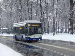 Solaris Urbino 8.9 LE electric #DE603 (FGKM) Tags: kraków mpkkraków solaris urbino urbino89le electric de603 linia154 prądnicka zima winter