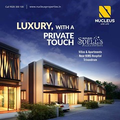 Inspired from the quirky geography of the Trivandrum milieu, Spells is a one of a kind maestro. The 3 & 4 BHK Apartment and Villa Project is a modern architectonic built for a more contemporary and sophisticated lifestyle. Spread over 1.32 acres of land n (nucleusproperties) Tags: life beautiful kochi elegant style trivandrum kerala realestate lifestyle india luxury villa comfort apartment nature architecture interior gorgeous design elegance environment beauty building exquisite view city construction atmosphere home living