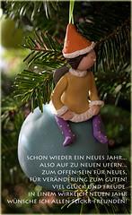 29. Dezember 2016: Meine Neujahrswünsche für euch (Gertraud-Magdalena) Tags: dezember winter christbaum christbaumschmuck engel angle neujahrswünsche