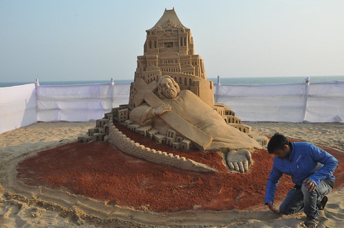 Merry Christmas -  Sand Art by Manas Kumar Sahoo - Revolution of Society.