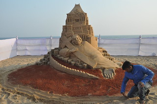 Merry Christmas -  Sand Art by Manas Kumar Sahoo - Revolution of Society.