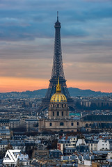 Tour Eiffel & Invalides (A.G. Photographe) Tags: paris parisien parisian france french français europe capitale d810 nikon nikkor ag agphotographe anto antoxiii xiii sunset toureiffel eiffeltower lesinvalides 70200vrii montvalérien