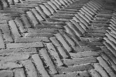 Project52 black & white - week3 (guidedbycuriosity_) Tags: blackandwhite monochrome texture streets herringbone