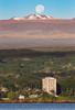 From Sea to Summit (geekyrocketguy) Tags: maunakea hawaii hilo astronomy telescope telescopes bay bayfront coconut island liliokolani bigisland moon moonset thephotographersephemeris tpe
