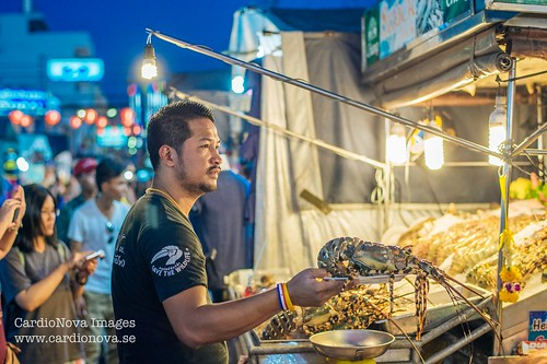 Lobster for sale at Hua Hin night market