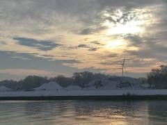 Mittelsbüren an der Weser (philosaphira) Tags: büren bremen winter vinter hiver mittelsbüren dämmerung dawn twilight weser werser fluss river