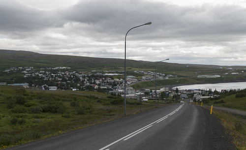 View over Húsavík, 15.07.2016.