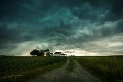 storm lane (Jen MacNeill) Tags: road sky house storm weather clouds rural landscape drive pennsylvania farm country stormy pa driveway lane lancastercounty leadinglines