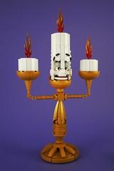 Lumière (Swan Dutchman) Tags: candle lego lumière disney beautyandthebeast candelabra waltdisney beourguest