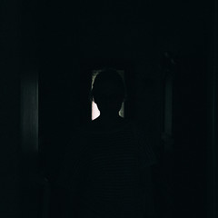 a little darkness (.Till) Tags: house girl silhouette 35mm dark darkness head minimal