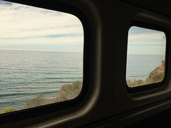 Heading to Big Sur, CA (jinsilo) Tags: ocean california travel train trails bigsur amtrak