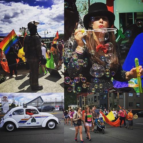 Gay #pride #yxy #yukon 2015, feeling the love.