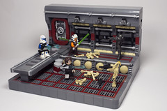 Boarded! (N-11 Ordo) Tags: detail writing photography star photo republic lego space battle destroyer story captain anakin lightsaber wars hull build venture combat clone rex vignette boarding droid skywalker ordo tano breach the moc tcw n11 ahsoka