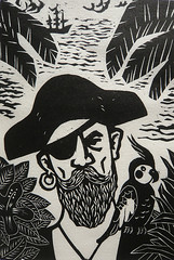 L'le au trsor / Treasure Island (philipp2008) Tags: print island treasure au ile pirate tresor woodcut gravure