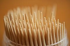 Sharp (Future-Echoes) Tags: wood macro dof bokeh sharp depthoffield toothpicks picks 2015 project52
