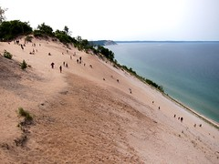 Sleeping Bear Dunes National Lakeshore (supernova9) Tags: summer people lake beach mi canon nationalpark michigan dunes july lakemichigan lakeshore sleepingbeardunes sanddunes sleepingbear 2015 s95 canons95