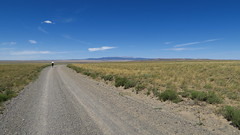 On our way to Atlantic City, WY. The Wind River Range rising up in the background.