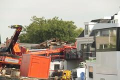kraancrash Julianabrug-7297 (leoval283) Tags: bridge crash cranes pontoons ponton alphenaandenrijn alphen julianabrug hijskranen brugdek