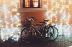MeAndYou (fedenew1983) Tags: meandyou biciclette inverno dicembre bicycle christmaslights colorsinourworld