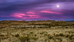 Canyonlands surprise (Rob Reaburn Photography) Tags: canyonlands canyons mesas buttes utah desert sunset pinkclouds pinksky landscape fullmoon colorful colourful nationalpark usa