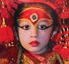 "NEPAL , Kathmandu, Kumari , ""lebende Göttin"", (Postcard) 15036/7665 (roba66) Tags: kumari lebendegöttin mädchen girl beauty reisen travel explore voyages roba66 visit urlaub nepal asien asia südasien kid child kind gesicht face hair eyes augen postkarte postcard"