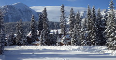 Post Hotel, Lake Louise Village (Jeff Goddard 32) Tags: canada canadianrockies banffnationalpark alberta winter december