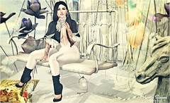 Look # 1021 Intentional (Kamila Stoanes) Tags: hair headmesh applier makeup eyes tatto event secondlife blogger jumpsuit outfit shoes poses