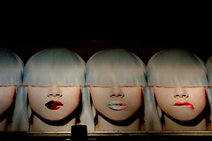 Eyes wide shut (Konstantinos Karnaros) Tags: women faces expressions street greece athens wapp poster advertisment