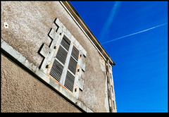 161022-1087-XM1.jpg (hopeless128) Tags: france sky eurotrip 2016 building shutters champagnemouton nouvelleaquitaine fr
