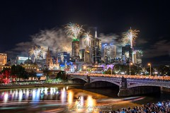 New Year's Eve #Melbourne (Explored 1st Jan 2017) (Qicong Lin(Kenta)) Tags: melbourne australia newyear newyearseve firework fireworks riverfire wideangle water event exterior reflection river travel year urbanlandscape yarrariver outdoor architecture d5 downtown festival flinders federation landscape light lighting longexposure exposure color colour city coloris cityscape view vivid victoria building nikon night nightlight