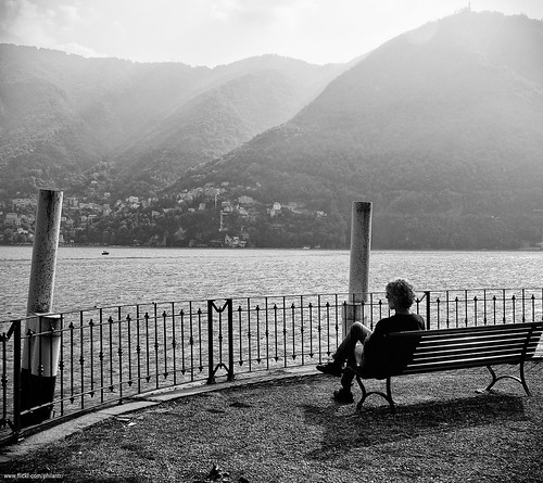 Como lake from the bench