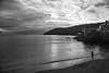 The Broken Mutt (richardsolway) Tags: dog animal woman beach cawsand cornwall blackandwhite fetch sand sea seascape cove