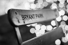 Bryant Park (peladomal ) Tags: chair bryantpark silla bw bn monocromatico monochromatic boque bokeh night noche newyork nyc ny newyorkcity nuevayork