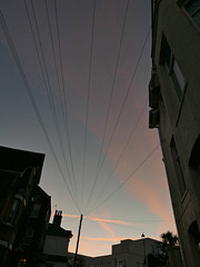 telephone wires (dawn.v) Tags: bournemouth dorset uk england winter january 2017 cold chilly earlymorning lumixlx100 sunrise lines telephonewires urban street sky