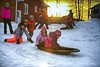 Winter Playground (Danny VB) Tags: winter winterplayground playing sunset outside house canon 6d christmas snow hiver child children kid kids slide sliding sun happy trees color colour dannyboy hivergaspesien enfant enfantsquijouentdanslaneige gaspesie quebec canada ef70200mmf28lisiiusm petiteriviereest fun funinthesnow