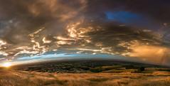 Sunset from the Port Hills, Christchurch (SP Burrows) Tags: porthills canterbury christchurch newzealand panorama sunset lumix 914mm clouds cloudporn