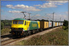 90045, Church Brampton (Jason 87030) Tags: liner freightliner frecht ghastly horrible nasty mess powerscrawl sun sunny august 2010 90045 green yellow loco ac acelectric traction wires wcml loop cgurchbrampron northants northamptonshire lineside ts location canon sky cloud skoda