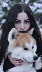 Soft snow (Giorgia Cinelli) Tags: girl snow winter dog wolf wolves soft beauty beautiful portrait portraitgirl portraitworld portraiture photography princess cold lovely h