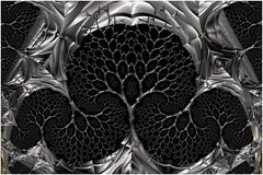 The Steel Tree (Ross Hilbert) Tags: fractalsciencekit fractalgenerator fractalsoftware fractalapplication fractalart algorithmicart generativeart computerart mathart digitalart abstractart fractal chaos art mandelbrotset juliaset mandelbrot julia orbittrap metal sculpture spiral tree steel