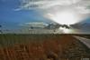 Wolkenzauber über dem Land (berndwhv) Tags: landscape landschap paysage sky clouds schilf feldweg weg wolkenzauber ebene wiesen deutschland norddeutschland niedersachsen landkreisfriesland wangerland minsen