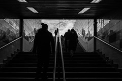 anything to take me out of this tunnel / everyday reflections (Özgür Gürgey) Tags: 2017 24120mm bw d750 darkcity nikon taksim grainy reflection stairs station street subway symmetry istanbul turkey