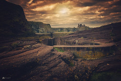 Hidden... (Kerriemeister) Tags: berwick seacliffe harbour rock smallest britain ghegan tantallon castle auldhame east lothian scotland north sky clouds atmosphere rocks rocky cliffs coastal nikond5200