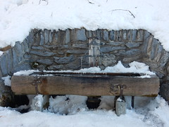 As fresh water as you're likely to find! (deltrems) Tags: swiss berner bernese oberland murren switzerland fresh water trough snow