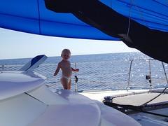 (Sara Schaub) Tags: chris baby sara sailing puertorico cruising catamaran sail schaub manta finley tumbleweed turksandcaicos circumnavigation aroundtheworld babyonboard kurowski