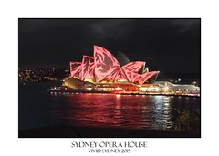 Sydney Opera House (sugarbellaleah) Tags: city travel roof light red vacation sky urban reflection art tourism geometric water beautiful festival architecture night reflections outdoors evening design opera pretty pattern view bright decoration perspective sydney scenic australia landmark illuminated event entertainment views nsw leisure ripples nightlife recreation colourful majestic iconic sydneyharbour lightbeams sydneyoperahouse adorned vividsydney