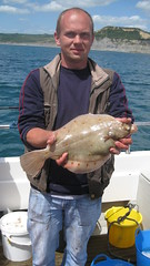 "Robert Kisielewski with his plaice of 955gms caught on Alice Rose • <a style=""font-size:0.8em;"" href=""http://www.flickr.com/photos/113772263@N05/18575309835/"" target=""_blank"">View on Flickr</a>"
