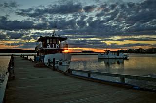Sunset. Lahti. Lake Vesijärvi. Summer, Finland