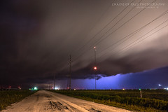 Nightroad (Chains of Pace) Tags: road longexposure storm oklahoma night rural retro guymon